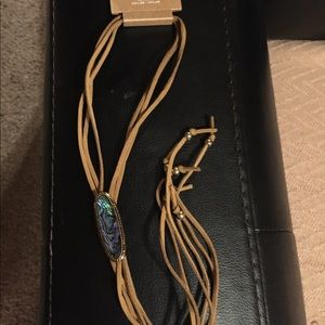 American Eagle Leather Necklace New!